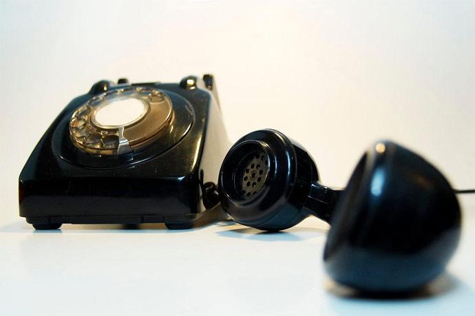 Photo: a telephone