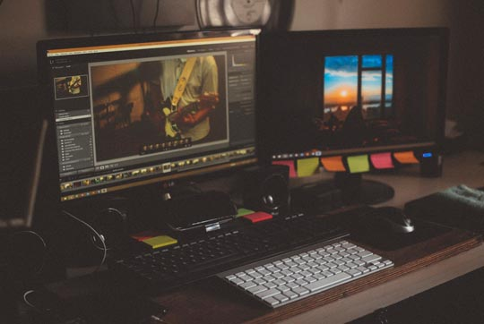 Photo of an edit suite